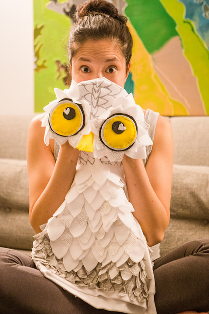 owl costume diy homemade halloween complete