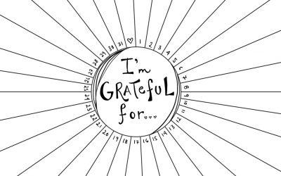 gratitude radial template